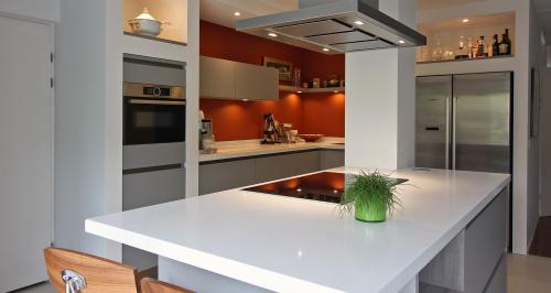 keuken haren eiland grijs
