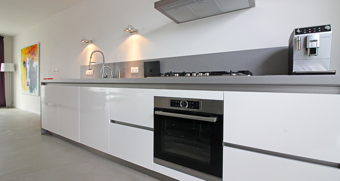 Greeploze Witte Keuken : Keuken badkamer en toilet mevr bakker inhuis keukens